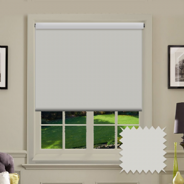 Blackout White Roller Blind - Bermuda White